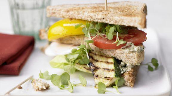 Rezept: Vegetarische Club-Sandwiches